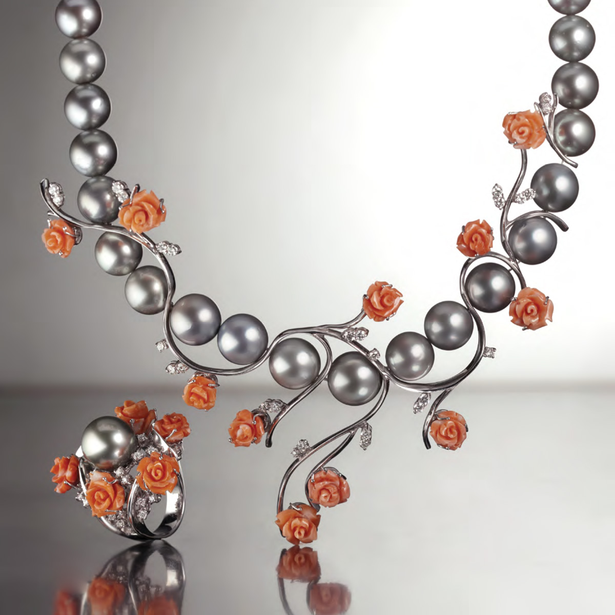 Corallo e Perle Tahiti - Coral and Pearls