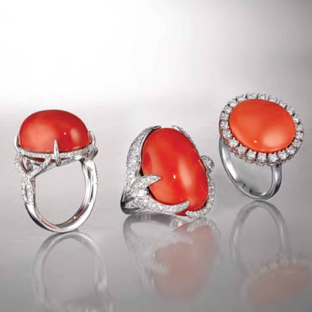 Anelli in Corallo - Coral Rings